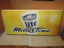 Miller Lite Beer sign Miller time tin 1998 (Rare)