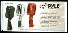 PDMICR42SL PYLE Classic Retro Vintage Style Dynamic Vocal Microphone (Silver)