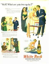 1947 White Rock PRINT AD Water 'Psyche' Fairy Hospitality Serving