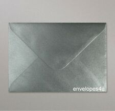 Qty 50 Silver C7 Diamond Flap Envelopes - Wedding
