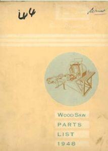 Ferguson Wood Saw Parts Manual - Dated 1948 (Not Cordwood Saw)