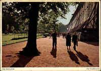BAD ROTHENFELDE 1959 Bedarfspost Ansichtskarte Personen Partie am Gradierwerk