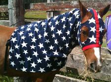 CAPRIOLE HORSE POLAR FLEECE STARS HORSE/PONY HOOD EXTRA LARGE WITH ZIP