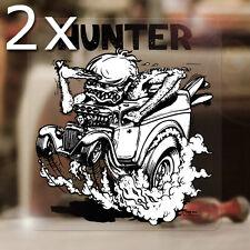 2x pieza Ed Roth Hunter sticker Consejo Fink Hot Rod autocollante pegatinas