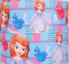 """Grosgrain Ribbon 7/8"""" Princess Sofia The First & Fairies SF4 Printed USA SELLER"""