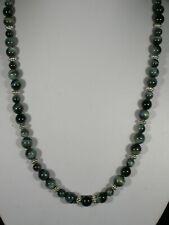 "20"" Blue Tiger Eye Bead Necklace"