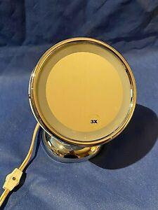 3X Round Illuminated Makeup Mirror