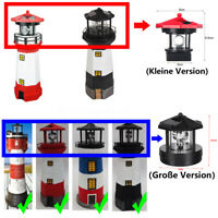 Ersatz Leuchtkopf für Solar LED Leuchtturm Garten Deko Leuchteinheit Mit Drehen