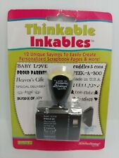 Thinkable Inkables Baby Theme Rubber Stamp - Stocking Stuffer - Scrapbook