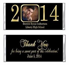 Graduation YOUR PHOTO Any Colors Candy Wrappers Party Favors Personalized Custom
