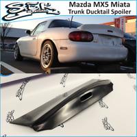 Rear JDM Boot Trunk Ducktail Spoiler Wing Lip (Fits Mazda MX5  MK2 Miata)