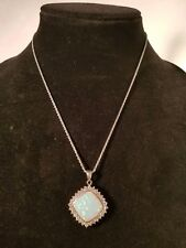 Sterling Silver Necklace and Opal Pendant