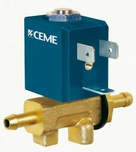 Solenoid valve CEME 5536, NC hose connect. 6.5mm upto 13 bar with coil (see des)