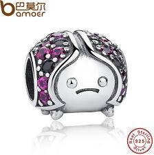 Pretty Authentic 925 Sterling Silver Charm Ladybug Fitting Bracelet Black Friday