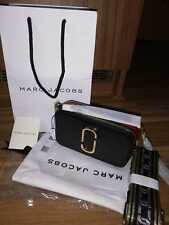 BNWT Marc Jacobs Logo Strap Snapshot Small Camera Black/Chianti Cross Body Bag