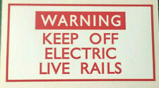 Warning Keep Off Electric Live Rails Signs & Stickers Weatherproof Pro Print