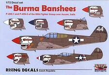 Rising Decals 1/72 THE BURMA BANSHEES P-40s of the 80th FG over Assam India
