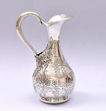 BEAUTIFUL STERLING SILVER HAND ENGRAVED PITCHER