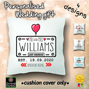 Wedding gift, personalised, cushion, pillow