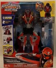 Power Rangers Super Megaforce Deluxe Turbo Falcon Megazord Builder MISB