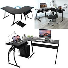 Computertisch Eckschreibtisch L-Form Winkelschreibtisch großer Gaming Bürotisch