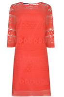 Laurel womens red lace dress casual summer dress size 8   *REF44