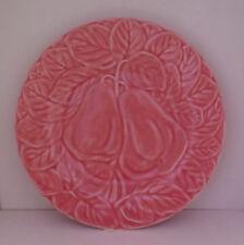 "Bordallo Pinheiro Portugal Pink Pear Luncheon Salad Plate 7.75"""