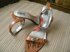 Carlos Santana WILD Women's High-Heel Ankle Strap Patent Leather Sandals,  9 M