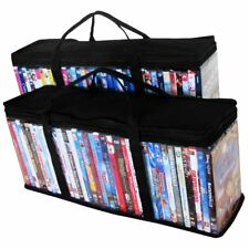 DVD, Blu-Ray Storage Container Organizer - 2 Storage Bags 40 DVD Each (80 Total)