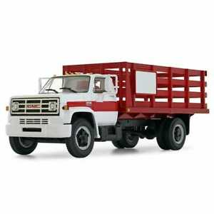 1:34 First Gear 1970s GMC 6500 Stake Truck *WHITE & RED* High Detail NIB!