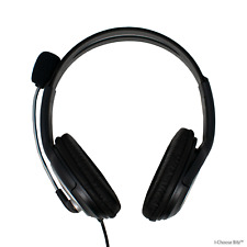 Wired USB Headset with Flexible Mic / In Line Volume Control for PC Laptop Skype