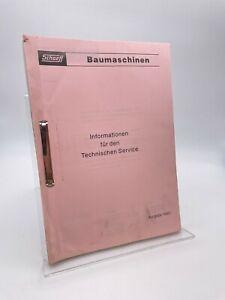 Schaeff / Informationen für den Technischen Service / Schulungshandbuch / 1993