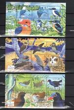 [SOLO] SOLOMON IS. 2004 BIRDS LIFE. SET OF 3 SHEETS OF 6 STAMPS. cv$40.00