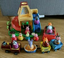 Peppa Pig Weebles Playset House Car & Train With 12 Weeble Figures Bundle