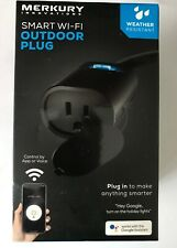 Merkury Innovations Indoor/Outdoor Smart WiFi Plug, No Hub Required *BRAND NEW*
