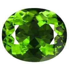 12.05cts Natural Oval-cut Flashing-Fire Vivid-Green IF Tektite Moldavite