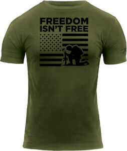 Freedom Isn't Free US Flag Soldier Military Army T-Shirt Tee