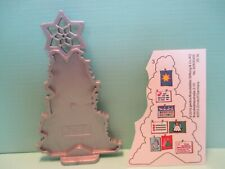 Playmobil accessories CHRISTMAS CARD SILVER DISPLAY TREE w/ optional stickers