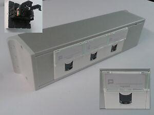 Bloc de 3 prises ethernet RJ45 avec nourrice aluminium réf 076565