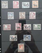 More details for kenya uganda tanganyika stamps. qe2  1954 definitives.  set × 14 fine-used.