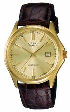 Casio Men's Enticer MTP1183Q-9A Gold Leather Quartz Fashion Watch