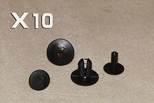 8 mm Rover Negro 75 Clips Remaches-Moldura Interior paneles, alfombras y revestimientos
