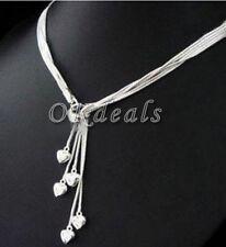 Intenso Elegante De Mujer Cinco Corazón Plata De Ley 925 Collar Con Colgante