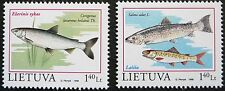 Lithuania stamps - The Red Book of Lithuania - Fishes_1998 - MNH.