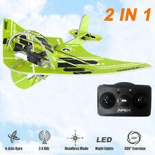 Apex 2.4GHz Remote Control RC QUADCOPTER Drone kids Gift ( 2 in 1 Glider )