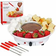 Chocolate Electric Fondue Pots Maker- Deluxe Dessert Fountain Set With Forks And