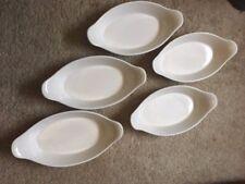 Pfaltzgraff ~ Rare Heritage White Oval 16 Oz Au Gratin Dishes ~ Set of 5