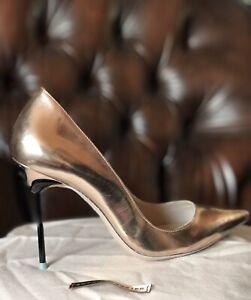 Sophia Webster Gold Heels Shoes Size 38 UK5
