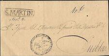O) 1854 Mexico, Judicial Seal, From San Martin To Puebla, Prefilatelic Xf