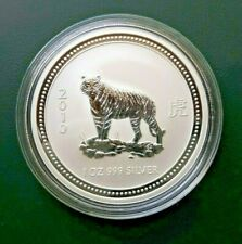 2007 2010 Australia Year of the TIGER 1 oz 999 SILVER COIN Lunar series 1 nice !